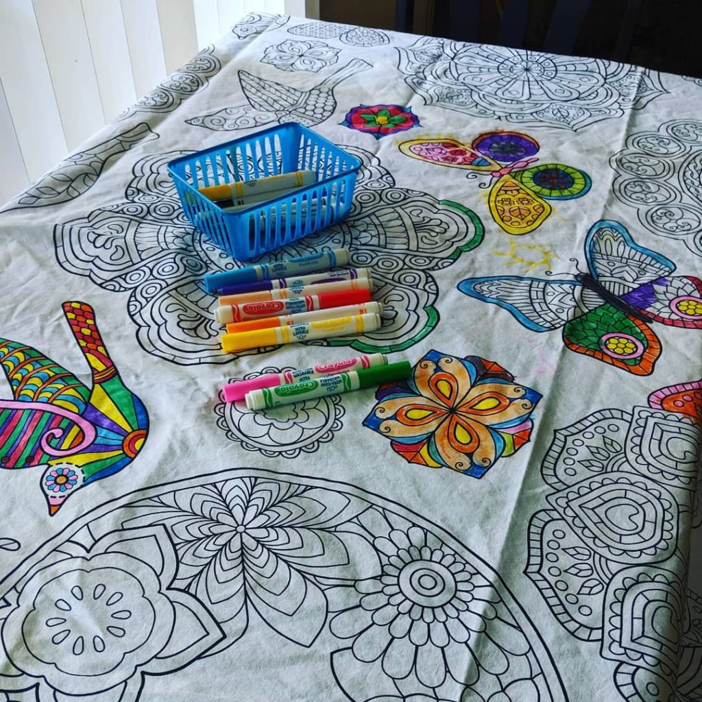 coloring table cloth